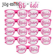 JOY ENLIFE 1pcs Team Bride Photo Booth Props Photobooth Bride to be Wedding  Glasses Mask Her cd14df9c22c3
