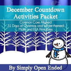 FREE Holiday Activity Packet | by Simply Open Ended