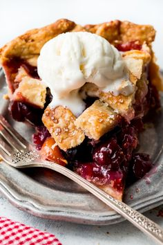Learn how to make the best homemade cherry pie from scratch! With a buttery flaky pie crust and juicy cherry filling, this is the essential summer dessert! Recipe on sallysbakingaddiction.com