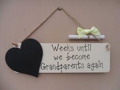 Grandparents Baby Countdown Chalkboard by JulesHandmadeGifts
