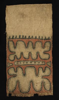painted tapa cloth, Papua New Guinea, early-mid 20C