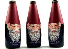 """Norksk Ol is a six pack alcoholic beverage. Based on research of Norwegian traditions and folklore, the bottle represent Norvegian ""Nisse""."