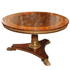 English Regency Bronze Mounted Rosewood Inlaid Center Table ENGLAND Late  18th Century/ Early 19th C