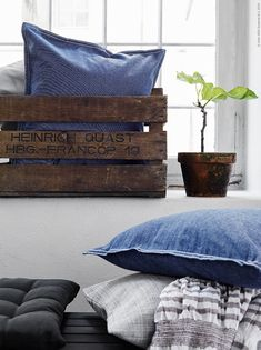 Textiles in white and blue from IKEA - Pinned onto ★ #Webinfusion>Home ★