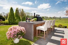 Buitenkeuken luxe | tuin ideeën | tuin ontwerp | luxury garden design | Hoog.design