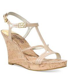 707e4a8db318 MICHAEL Michael Kors Cicely Platform Wedge Sandals - Wedges - Shoes -  Macy s Platform Wedge Sandals