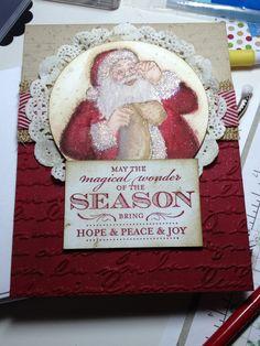 Stampin' up! Santa's list