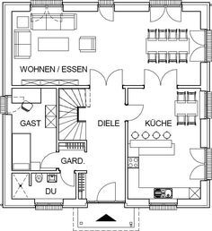 groundplan … – Makaron – Home Office Design Layout Home Office Design, Interior Design Living Room, House Design, Best House Plans, Sims House, Moving House, Office Interiors, Architecture Details, Layout Design