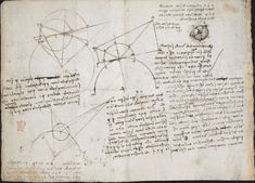 Оцифрованные дневники Леонардо да Винчи опубликованы онлайн 13
