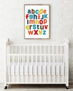 Alphabet Art A-Z Boy Printable Wall Art by HelloHappyStudio
