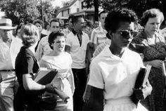 On September 24, 1957, President Dwight D. Eisenhower sends 101st Airborne Division troops to Little Rock, Arkansas, to enforce desegregation.