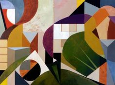 "Futuro Modernista (Modernist Future) by Mauricio Piza, oil on canvas, 44.1 H x 59.1 W x 1.6"" | Saatchi Art"