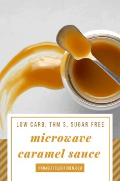 Brooke's Five Minute Caramel Sauce is the real deal! It comes together in a snap… Brooke's Five Minute Caramel Sauce is the real deal! It comes together in a snap and tastes like…caramel sauce! Trim Healthy Mama, THM S, KETO, Low Carb Caramel Sauce Trim Healthy Recipes, Trim Healthy Mama Plan, Low Carb Dinner Recipes, Thm Recipes, Cream Recipes, Diabetic Recipes, Keto Sauces, Low Carb Sauces, Deserts