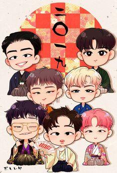 Yg Ikon, Chanwoo Ikon, Ikon Kpop, Hanbin, Wall Stickers Playroom, Name Canvas, Ikon Wallpaper, Bobby, Drawing Wallpaper