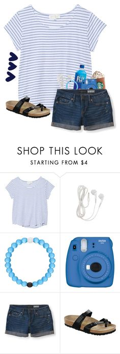 """QOTD"" by pinkrasberry ❤ liked on Polyvore featuring The Lady & The Sailor, Lokai, Fujifilm, Aéropostale and Birkenstock"