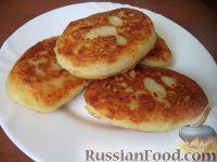 Фото к рецепту: Картофельные котлеты с куриным мясом