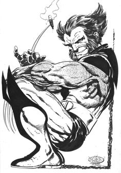 Wolverine by John Byrne. A man should never sit like that, fictional or not.