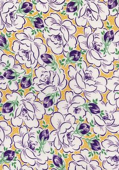 1940s Fabric Vintage Retro Material Cotton by AdeleBeeAnnPatterns, $20.00