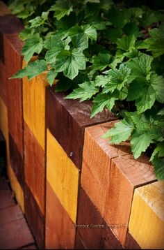 Get the most out of your materials #railwaysleepers #londongarden #gardendesign #raisedbeds #design #timber