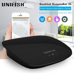 Find More Smart Home Controls Information about Geeklink RemoteBox 3S Home Automation Intelligent WiFi IR RF Smart Home Center for iPhone 7 IOS Android Smart Remote Control,High Quality home theater system sale,China rf music Suppliers, Cheap rf deadbolt from UNIFISH Store on Aliexpress.com