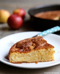 Gâteau aux pommes et au sirop d'érable