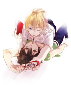 Owari no seraph - Mika x Yuu by Giaour on pixiv I ship diss so hard ¬u¬ -me and my gay couples-