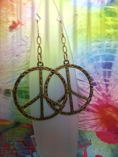 SPECIAL ORDER  Gold Plated Peace Sign Earrings by joolrylane