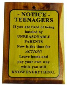 Teenagers....need I say more!