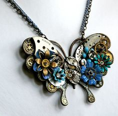 Exquisite Species - Vintage Steampunk Butterfly Necklace. $119,00, via Etsy.
