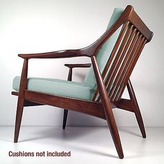 Vintage Mid Century Danish Modern Lounge Chair - Retro Armchair Restored