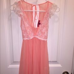 Lingerie Delicate peach colored Betsey Johnson teddy Betsey Johnson Intimates & Sleepwear Chemises & Slips