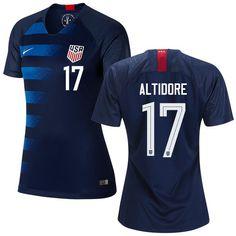0088f689f Women s  17 Jozy Altidore 2019 Soccer USA Away Jersey Navy Short Shirt