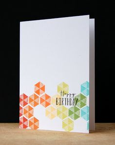 Geometric Birthday Card by Cristina Kowalczyk for Papertrey Ink (April 2013)