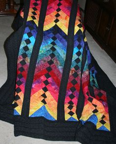 Handmade French Braid Quilt by WesternTrailArt on Etsy, $1250.00