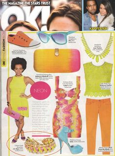 (March 26, 2012) OK! Magazine: Neon Natalie Bracelet