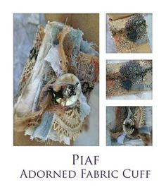 Piaf Adorned Fabric Cuff