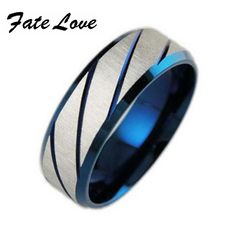 cool 316L Stainless Steel Superman Finger Rings blue Men's titanium steel blueornaments gj196 5.81 $
