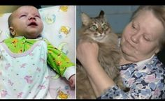 Russia Today Screenshot photo     In a Moscow building, a Homeless cat saved a baby that ...