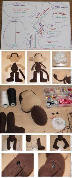 Мастер-класс: шьем озорную обезьянку - Ярмарка Мастеров - ручная работа, handmade