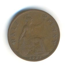 George V Half Penny 1931 Coin Code: RSC2090 by COINSnCARDS on Etsy
