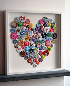 Good way to display those key rings or badges you don't know what to do with from holidays!