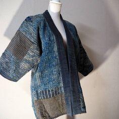 Lady Farmer's Indigo Cotton Boro Jacket