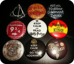 "Ultimate Fan Button Mix #2- 1"" Harry Potter Inspired Pin Back Button Mix"