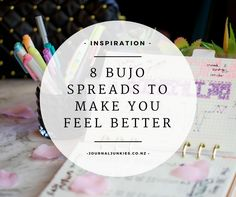 8 Bujo Spreads to make you feel better - Bullet Journal ideas for when you're feeling crappy