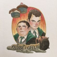Crabbe & Goyle! I actually finished this last night but I like to take these pictures with natural light during the day so they won't look so yellow so I am posting it a day later