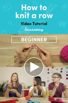 Learn how to knit a row in this beginner knitting video tutorial! Find more at LoveKnitting.com