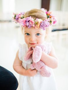 Adorable Flower Girl - Caroline Castigliano 'Love Is In The Air' Collection | Gorgeous Pink Floral Wedding Inspiration | Planning and Shoot Direction by Natalie Hewitt | Images by Wookie Photography