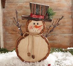 Decor Veneer Snowman