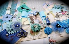 Once in a Blue Moon Project Embellishment by ZeusandZoe on Etsy, $29.99