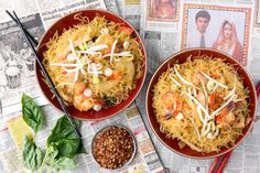 Singapore Street Noodles is the classic treat you don't need to leave home for. Spicy and fantastic!
